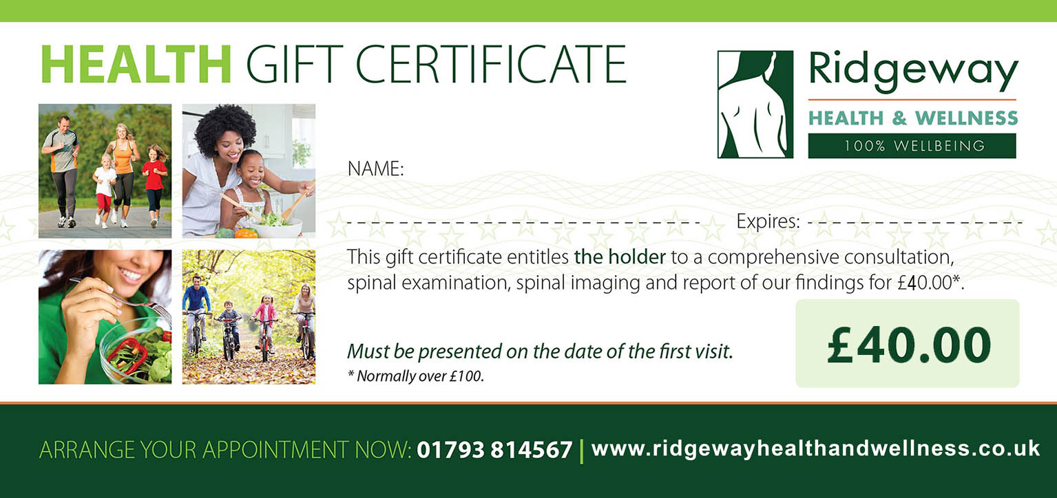Ridgeway Health and Fitness Gift Certificate