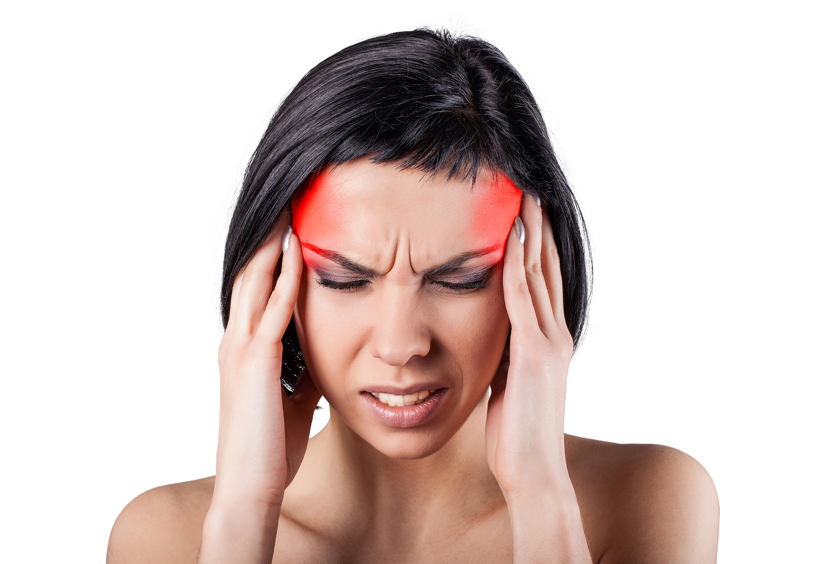 Women suffering from a Headache